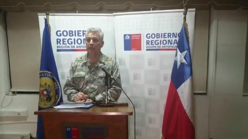General en jefe de la zona de Antofagasta, asegura que es ilegal el cierre de fronteras comunales