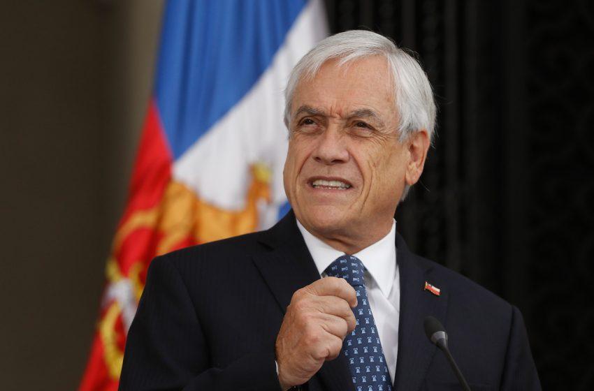 Presidente Sebastian Piñera da negativo por Covid-19 tras reunión con senador Quinteros