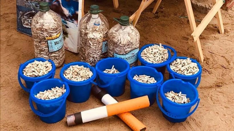60 colillas de cigarro ha recogido una ONG en las playas de Antofagasta