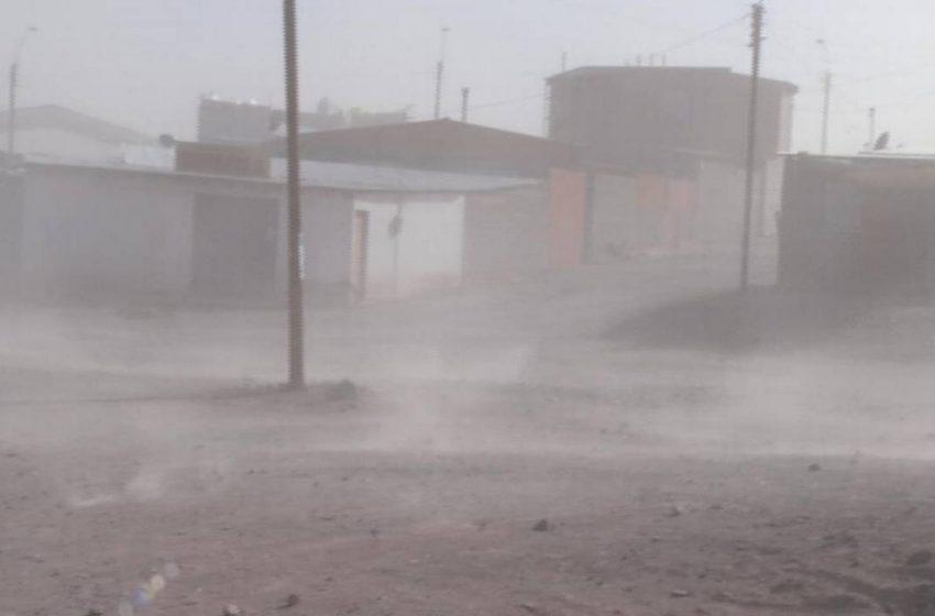 Ráfaga de vientos afectará a Antofagasta y Mejillones durante el día