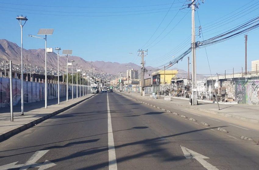 Así se encuentran las calles de Antofagasta tras la cuarentena