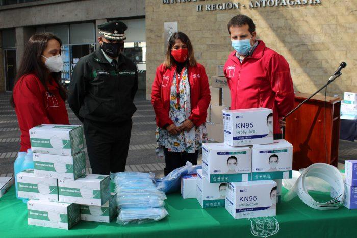 Entregan elementos de protección personal e insumos a Gendarmería de Chile y Sename Antofagasta