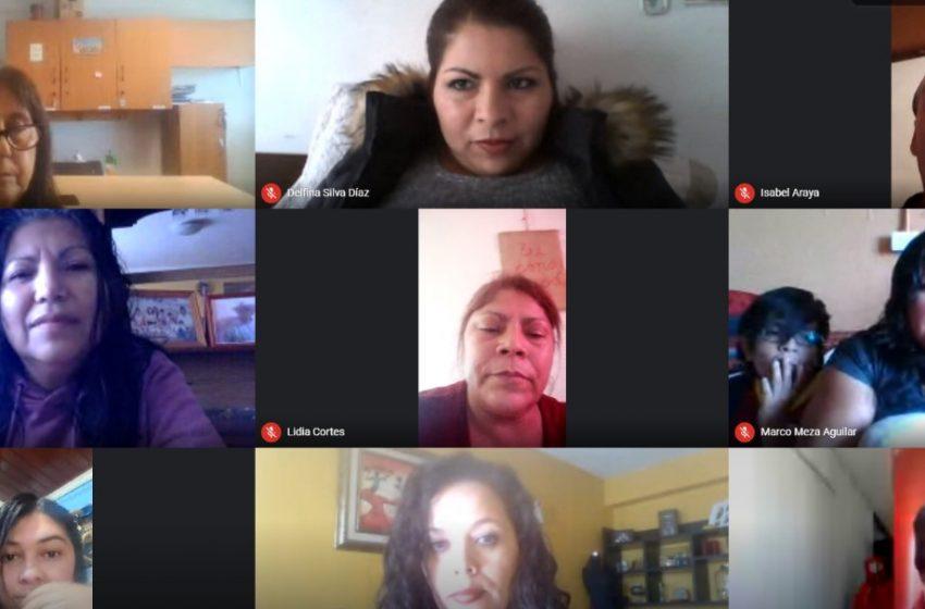 Municipalidad entrega acompañamiento y capacitaciones online a familias de Antofagasta