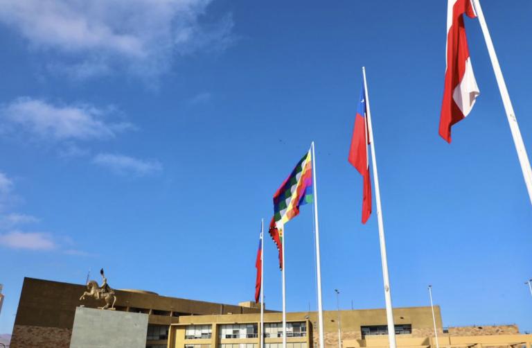 Municipalidad de Antofagasta Iza banderas de pueblos originarios durante Fiestas Patrias
