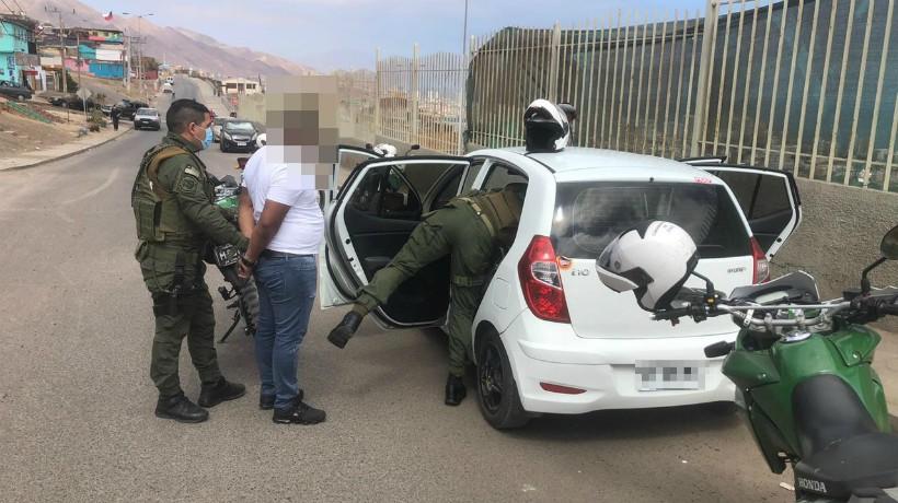 Con 100 dosis de cocaína fue detenido traficante en Antofagasta