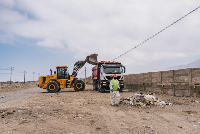 FCAB retira más de 150 toneladas de basura de la vía férrea en el norte de Antofagasta