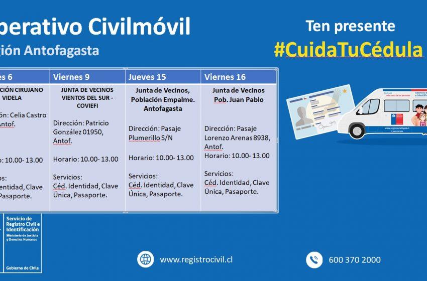 Plebiscito: Campaña #CuidaTuCédula agenda nuevas fechas en terreno de Registro Civil Antofagasta