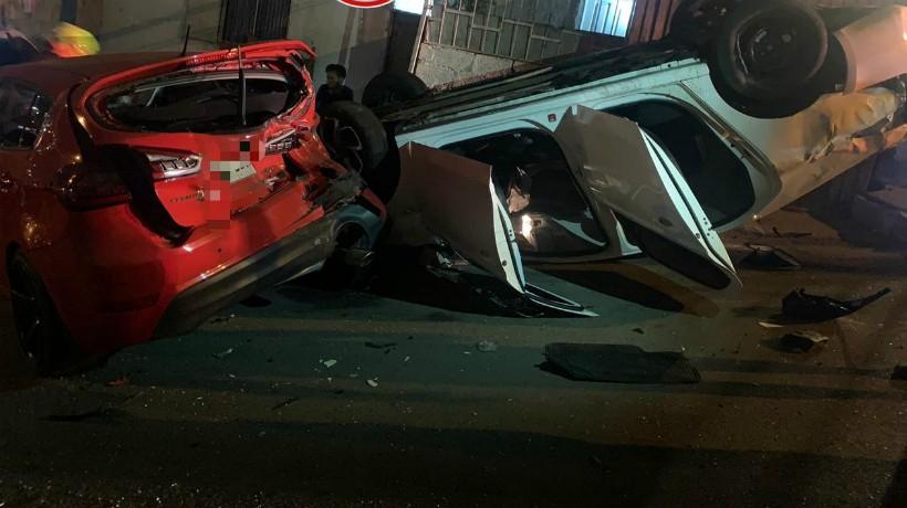 Accidente dejo a un adulto y a un bebe heridos en Antofagasta