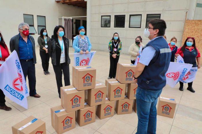 Municipalidad de Antofagasta entregó canastas de alimentos a funcionarios del Centro Oncológico Norte