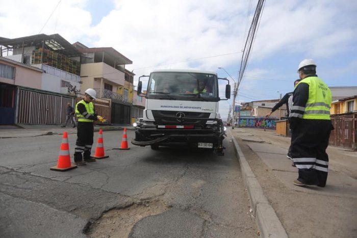 Aprueban millonaria inversión para obras de reparación de hoyos y obras barriales en Antofagasta