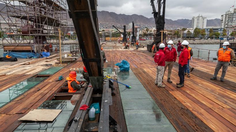 Diciembre será el mes de culminación de las obras de conservación en el muelle histórico Melbourne Clark de Antofagasta