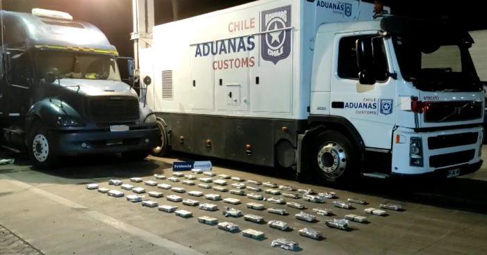 Aduana detecta más de $1.433 millones de pesos en tráfico de cocaína