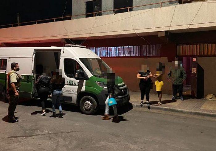 Carabineros nuevamente detecto fiesta clandestina en Calama