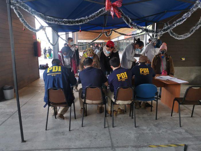 30 extranjeros fueron sorprendidos en un bus en Tocopilla