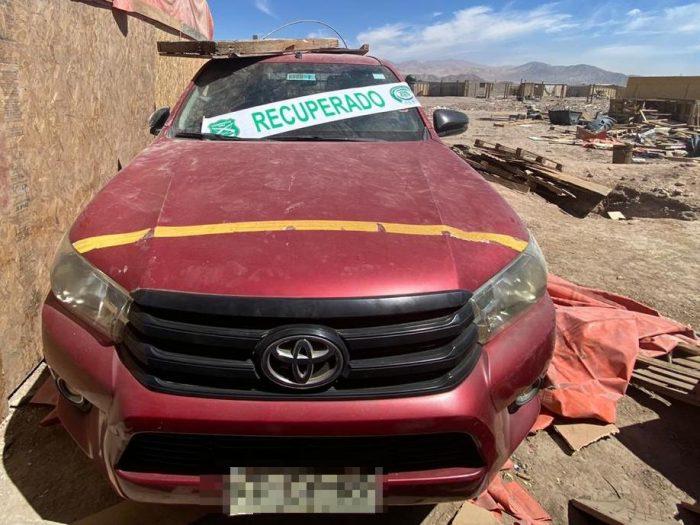 Mujer es detenida por receptación de vehículos robados en Calama