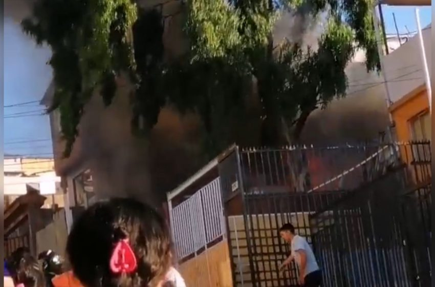 Incendio dejo dos casas dañadas en Antofagasta