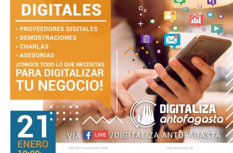 Emprendedores de «Digitaliza Antofagasta» participarán en Showroom de servicios digitales abiertos a todo público