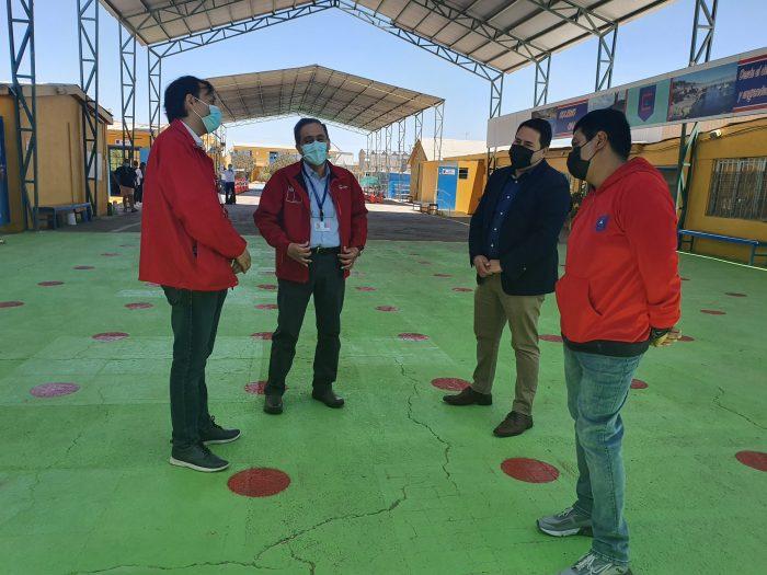 Autoridades supervisan protocolos para vuelta a clases en Antofagasta