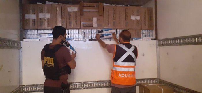 Antofagasta: Detectan contrabando en camión con doble fondo