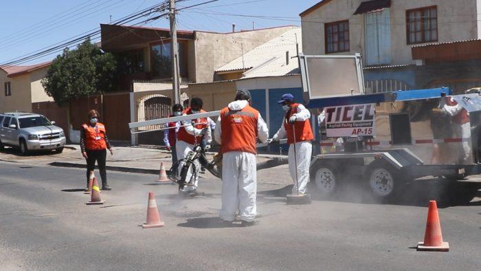 Municipalidad puso en marcha su nueva máquina bacheadora para Calama