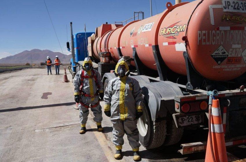 El Abra contrata servicios de empresa de comunidad indígena del Alto El Loa para labor de descarga de ácido sulfúrico
