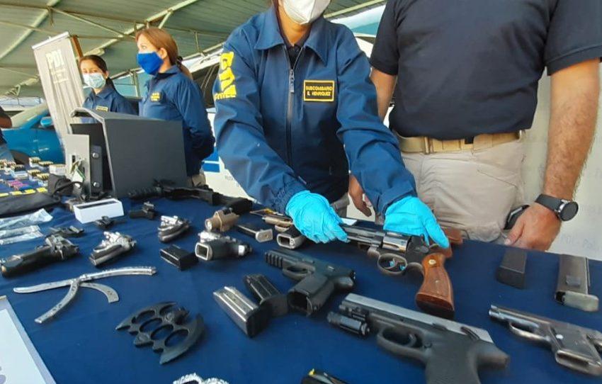 PDI incauta 11 armas y más de 750 cartuchos de munición en Calama