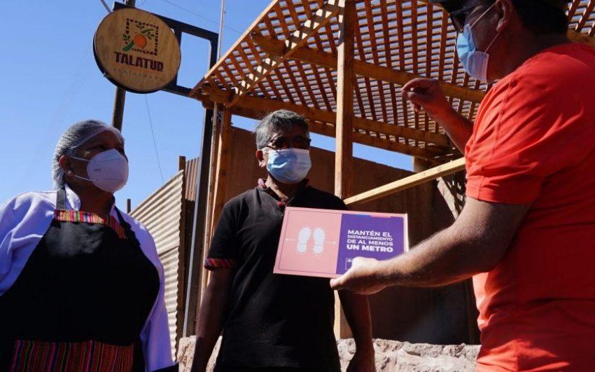 El Abra implementa medidas sanitarias para impulsar reapertura de emprendimientos en Alto El Loa