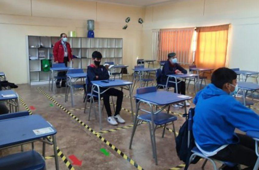 Calama recibió a 170 alumnos de forma presencial
