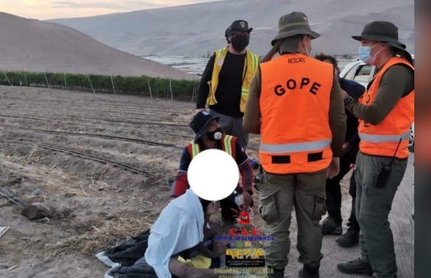 Encuentran con vida a menor de 14 años extraviado en Arica