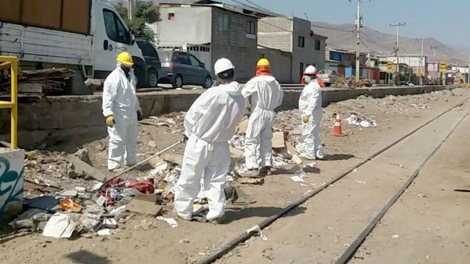 FCAB retiró entre enero y marzo más de 20 mil kilos de basura de la vía férrea en Antofagasta