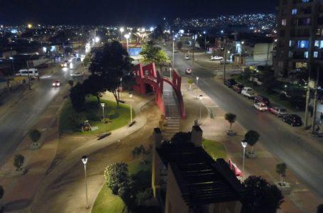 Municipalidad de Antofagasta realizó recambio de luminarias en Plaza Nicolás Tirado