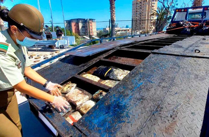 Antofagasta: Incautan más de 4 millones de dólares de droga en procedimiento carretero