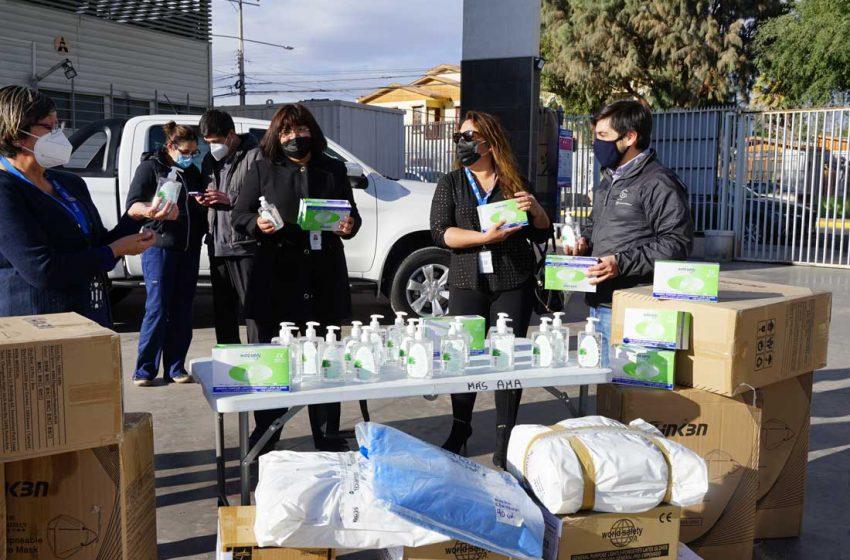Posta de Ollagüe y COMDES Calama reciben insumos médicos de Minera El Abra