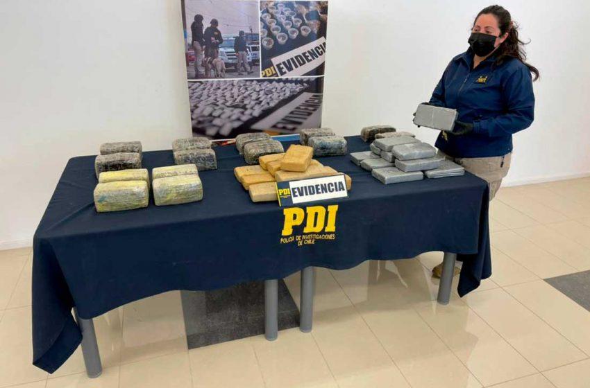"""Operación """"Cristal"""" permitió incautar más de 37 kilos de droga en Calama"""
