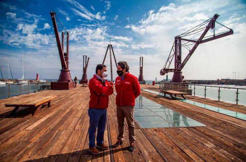Gobierno entregó obras de conservación de muelle histórico Melbourne Clark de Antofagasta