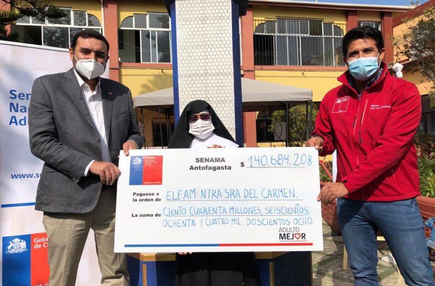 Senama entrega subsidios a establecimientos de adultos mayores en la región de Antofagasta