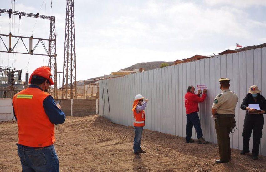 Gobernación de Antofagasta desalojará cuatro construcciones por riesgo eléctrico en Taltal