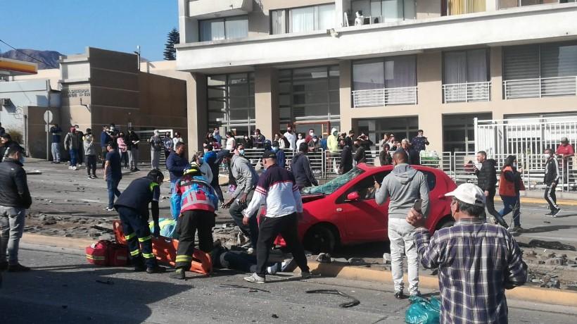 Accidente de alto impacto dejo a 8 personas lesionadas en Antofagasta
