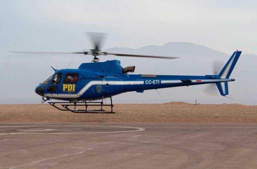 Antofagasta: Helicóptero PDI recibió importantes mejoras para su operación en el norte de Chile