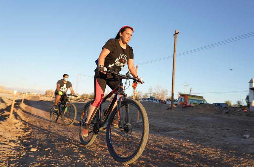Comunidad de María Elena inaugura su primera ciclovía