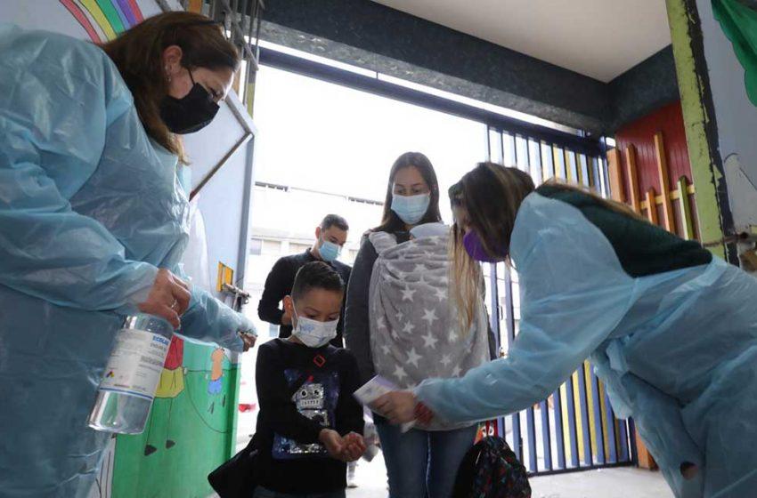 Autoridades realizan positivo retorno de escuelas a clases presenciales en Antofagasta